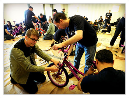 Bikes for Kids charity challenge teambuilding